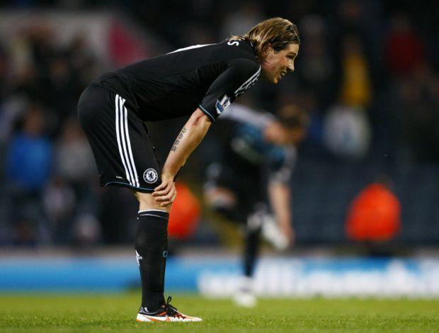 Fernando Torres Chelsea Blackburn (Foto: Agência AP)