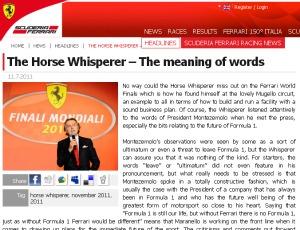 Site oficial da Ferrari (Foto: Divulgação)