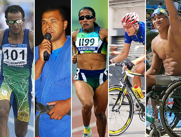 montagem atletas Parapan  (Foto: Editoria de Arte / GLOBOESPORTE.COM)