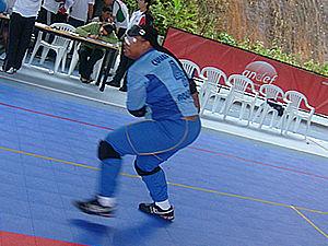 Cláudia em treino  (Foto: AMC-MT)