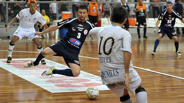 Santos, de Deives, empata com o Florianópolis e está na final da Liga Futsal (Foto: Divulgação/Santos FC)