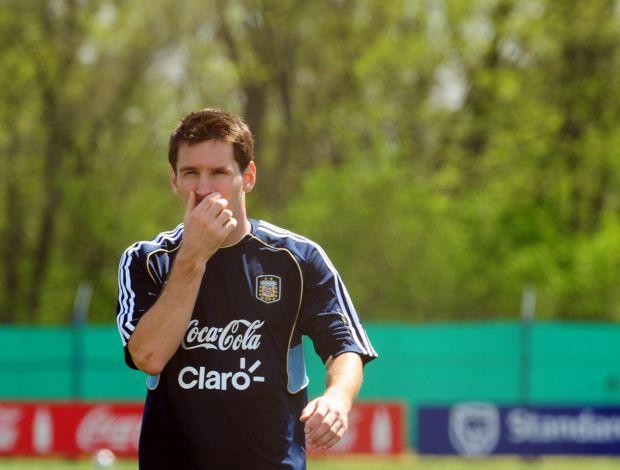 Lionel Messi treino Argentina (Foto: Divulgação / AFA)