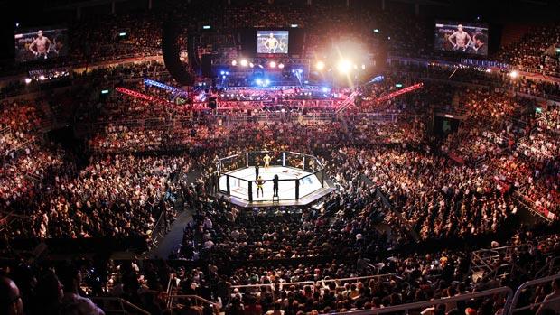 Vista panorâmica da Arena da Barra no UFC Rio (Foto: Divulgação/UFC)