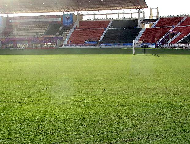 estádio em Doha, no Qatar (Foto: Márcio Iannacca / GLOBOESPORTE.COM)