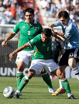 messi argentina x bolivia (Foto: AP)