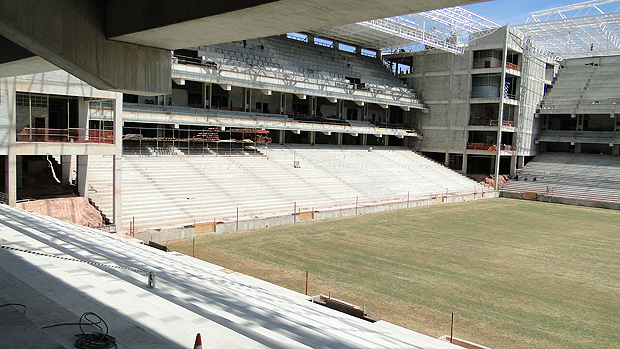 obras do estádio Independência (Foto: Lucas Catta Prêta / Globoesporte.com)