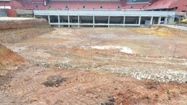Obras na Arena da Baixada, do Atlético-PR (Foto: Divulgação/Site oficial do Atlético-PR)