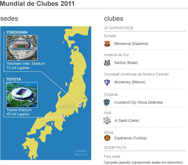 info mundial clubes 2011 - 3 (Foto: arte esporte)