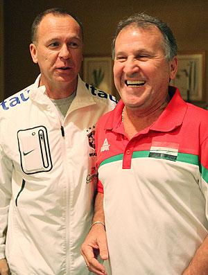 Zico e Mano Menezes (Foto: Rafael Ribeiro / CBF)