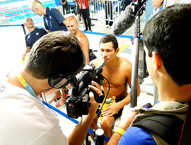 andré e gustavo documentario clodoaldo natação (Foto: Helena Rebello / Globoesporte.com)