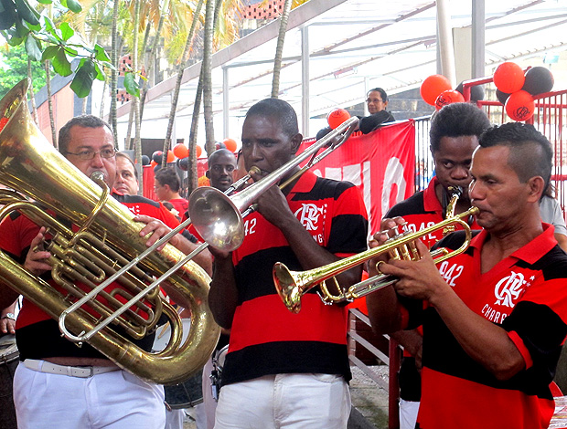 charanga 116 anos do Flamengo (Foto: Janir Júnior / Globoesporte.com)