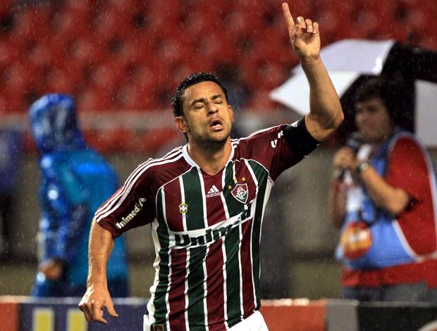 Fred comemora gol do Fluminense sobre o Grêmio (Foto: Cezar Loureiro/Agência O Globo)