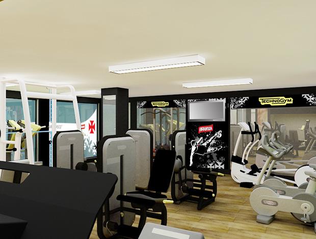 sala de musculação vasco são januário (Foto: Divulgação / Site Oficial do Vasco)