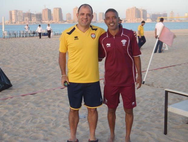 Marcelo Mendes técnico Emirados Árabes futebol de areia Neném (Foto: Arquivo Pessoal)