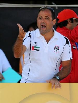 Marcelo Mendes técnico Emirados Árabes futebol de areia (Foto: Arquivo Pessoal)