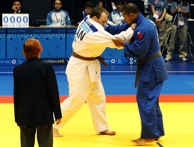 Antonio Tenório na luta de judô do Parapan (Foto: Helena Rebello / Globoesporte.com)