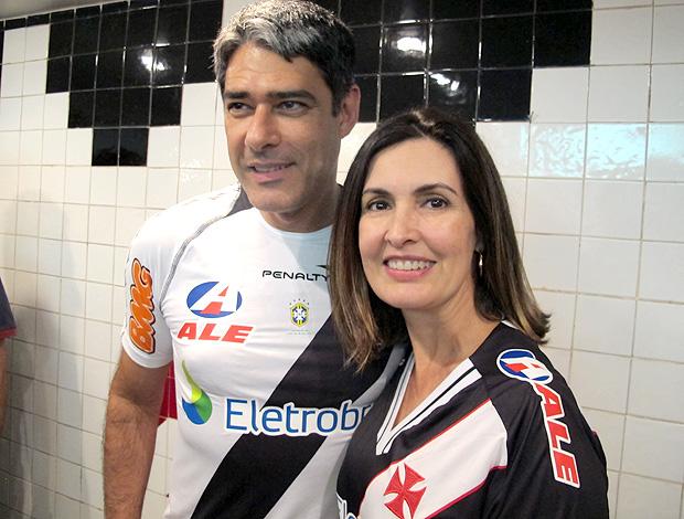 William Bonner e Fátima Bernardes vasco são januário (Foto: Gustavo Rotstein / Globoesporte.com)
