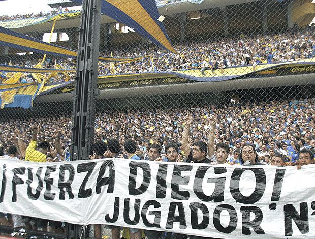 faixa Boca Juniors Diego (Foto: EFE)