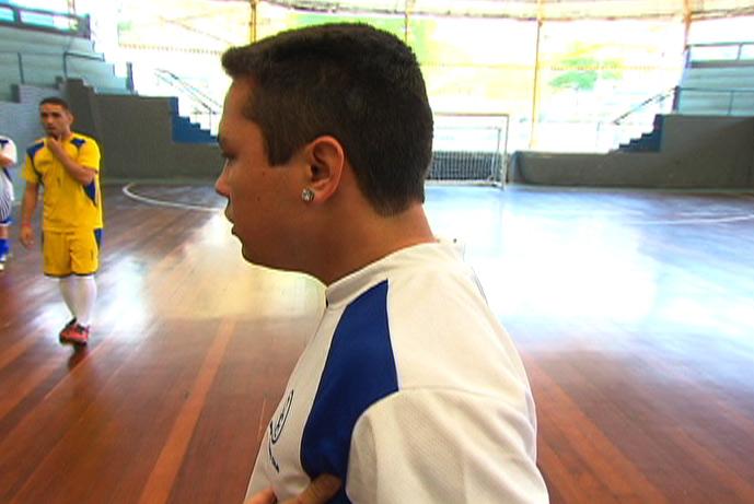 orlando futsal álcool sportv repórter treino 2 (Foto: Reprodução SporTV)