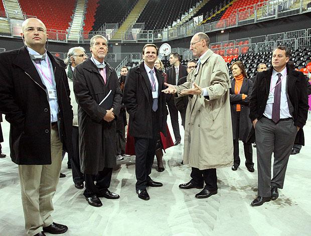 Prefeito Eduardo Paes visita o Parque Olímpico em Londres (Foto: Beth Santos / Divulgação)