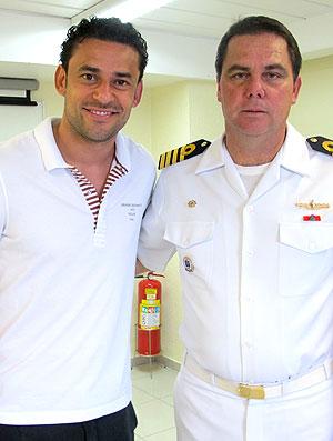 Fred do Fluminense durante teste na Marinha (Foto: Divulgação / Capitania dos Portos)