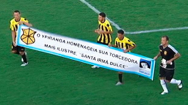 homenagem do Ypiranga a irmã dulce (Foto: Reprodução / TV Bahia)