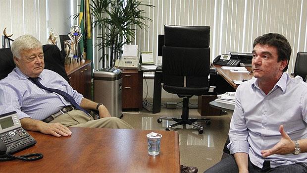 Andres Sanchez com Ricardo Teixeira (Foto: Rafael Ribeiro / CBF)