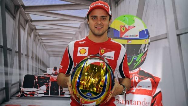 Pintura especial do capacete de Felipe Massa para o GP do Brasil (Foto: Divulgação)