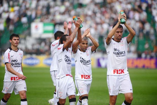 Jogadores do Corinthians no Orlando Scarpelli (Foto: Marcos Ribolli / globoesporte.com)