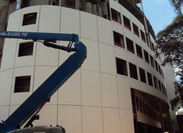 Fachada do prédio multiuso da Arena Palestra (Foto: Divulgação)