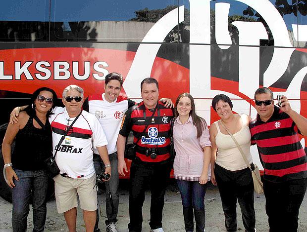 turistas visitam o Flamengo (Foto: Fábio Leme / Globoesporte.com)