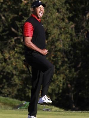 golfe Tiger Woods é campeão do World Challenger (Foto: AP)