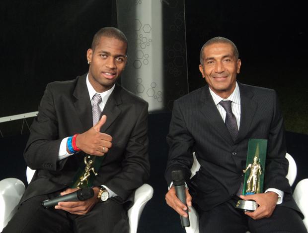 Cristovão e Dedé, do Vasco, no Bem, Amigos! (Foto: Wagner Bordin/SporTV.com)