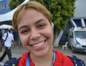 Aline Castro, do do SESI Barbacena (MG), judô Olimpíadas Escolares de Curitiba (PR) (Foto: Ana Carolina Fontes / GLOBOESPORTE.COM)