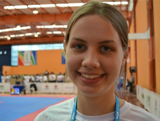 Camila Nelson Rio Grande do Sul Olimpíadas Escolares Cutiriba 2011 15 a 17 anos (Foto: Ana Carolina Fontes / GLOBOESPORTE.COM)