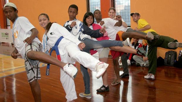 Equipe Rio Grande do Sul Olimpíadas Escolares 2011 Curitiba 15 a 17 anos (Foto: Pedro Veríssimo / GLOBOESPORTE.COM)