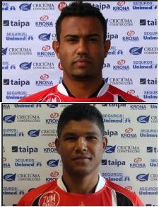 Renato Santos e Ronaldo Capixaba, do Joinville, podem pontar no Avaí (Foto: Site oficial do Joinville)