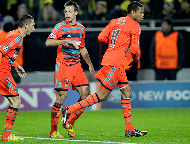 Loic Remy - Borussia Dortmund x Marseille (Foto: Reuters)