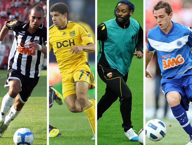 MONTAGEM - Diego tardelli, Taison, Vagner love e Montillo  (Foto: Editoria de Arte / Globoesporte.com)