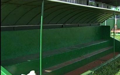 banco de reservas do estádio do rio verde (Foto: Reprodução/TV Anhanguera)
