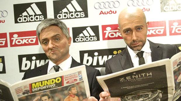 sósias de José Mourinho e Pep Guardiola (Foto: Reprodução / MundoDeportivo.es)