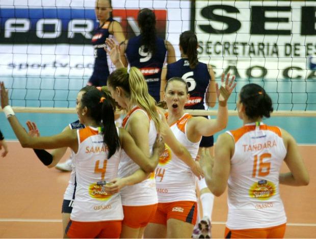São Caetano Osasco Superliga feminina (Foto: Alexandre Arruda/CBV)