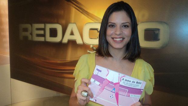 clara albuquerque redação sportv (Foto: Leonardo Filipo/SporTV.com)