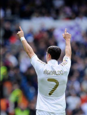 Cristiano Ronaldo comemoração Real Madrid (Foto: Getty Images)