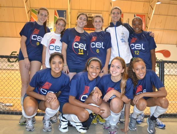CEL (RJ), vôlei Olimpíadas Escolares de Curitiba (PR) (Foto: Ana Carolina Fontes / GLOBOESPORTE.COM)
