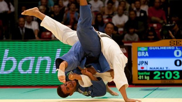 Leandro Guilheiro no Grand Slam do Japão (Foto: Divulgação/CBJ)