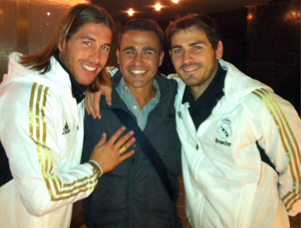 Sergio Ramos, Cannavaro e Casillas (Foto: Reprodução / Twitter)