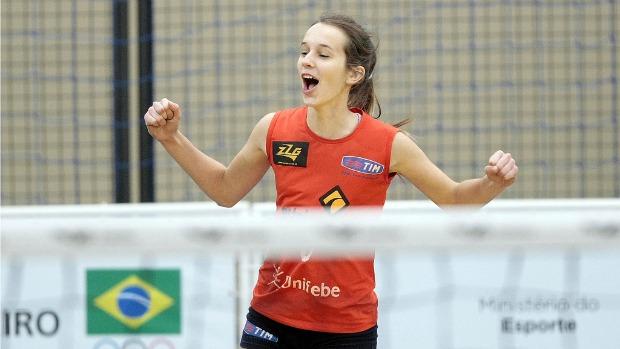 Escola Francisco Mazzola (SC), vôlei Olimpíadas Escolares em Curitiba (PR) (Foto: Gaspar Nóbrega / Inovafoto)