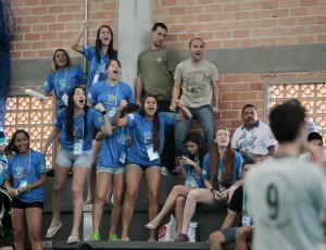 Torcida, handebol Olimpíadas Escolares de Curitiba (PR) (Foto: Gaspar Nóbrega / Inovafoto)
