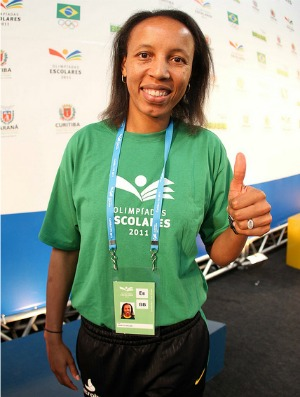 Janeth, embaixadora das Olimpíadas Escolares em Curitiba (PR) (Foto: Ricardo Valarini / Inovafoto)